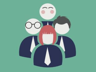 organisation icon showing a group of people, represented anonymously