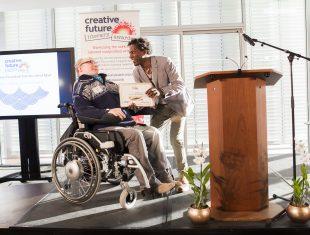 Lemn Sissay gives out award