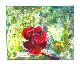 Painting of a red flower