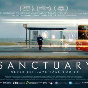flyer for the Irish film Sanctuary