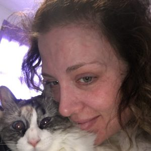 Kelly Glover and her cat
