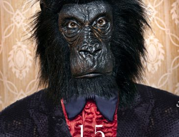 Book cover shows the image of a gorilla wearing a suit