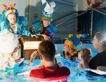 People in a pool for Oily Cart's Splish Splash