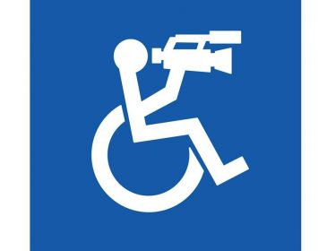 wheelchair user with camera