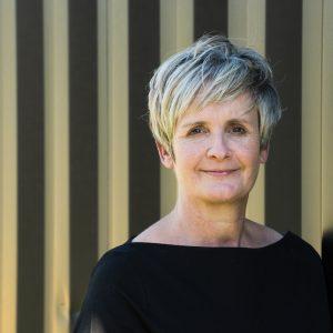 portrait of white theatre-maker Sue MacLaine