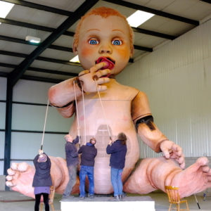 Giant baby puppet